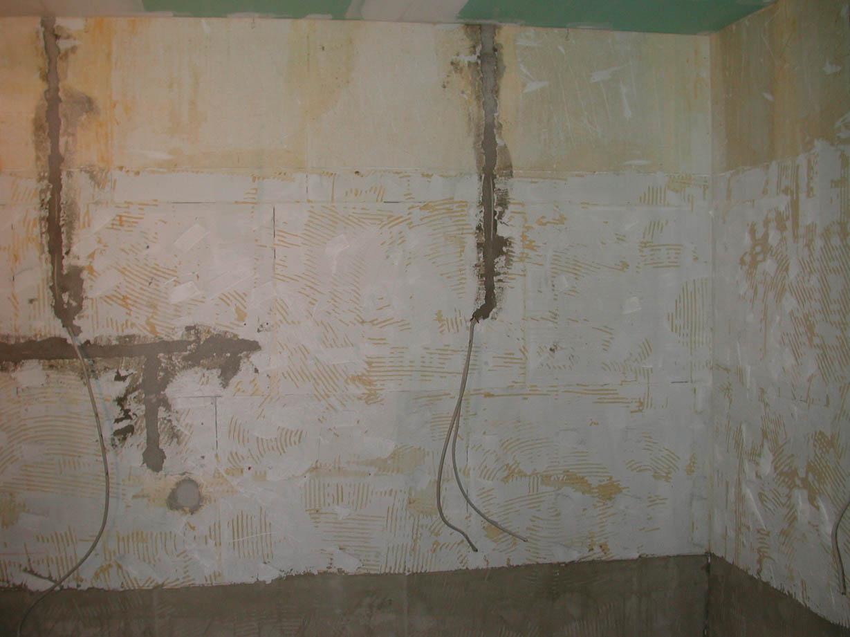 Rohbau eines Badezimmers