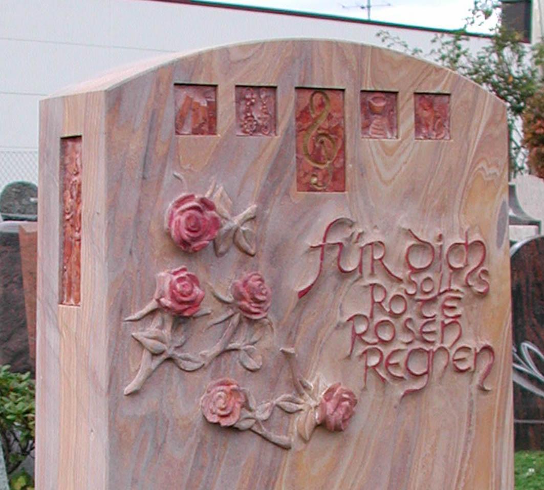 Die Rosen und Intarsien im Detail
