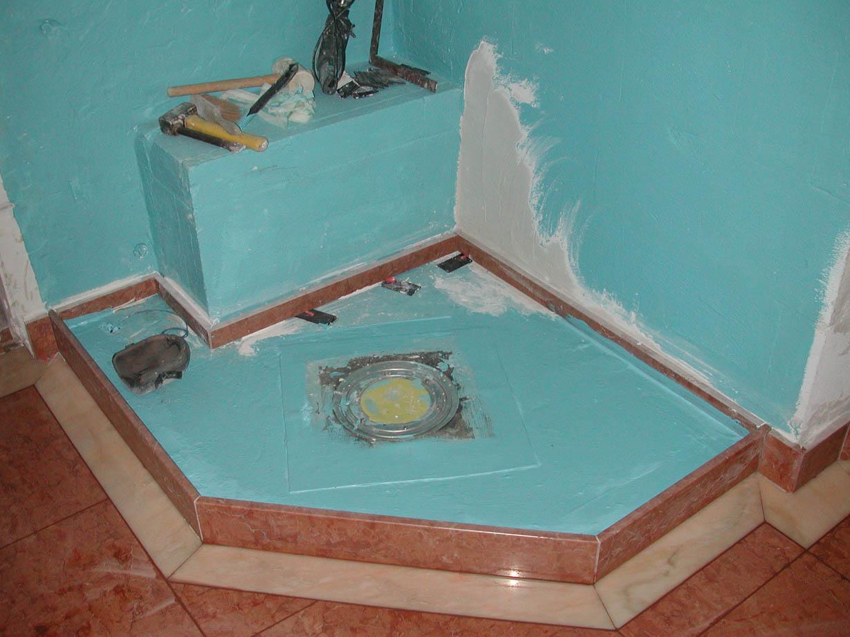 Dusche in Vorbereitung