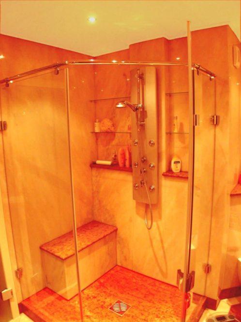 fertige Dusche